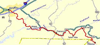 Creeper Trail maps